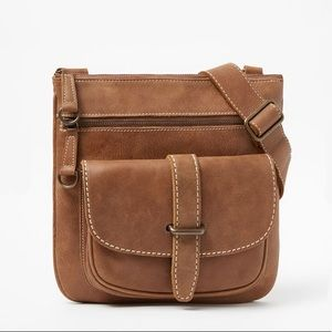 Roots Side Saddle Tribe NWOT Leather Brown